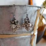 DIY Drop Wedding Earrings