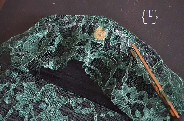 lace clutch