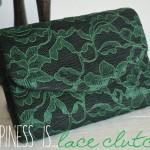 Easy DIY Lace Clutch
