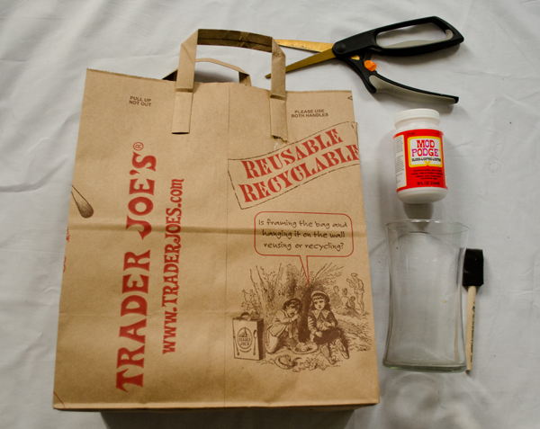 How To Make A Book Cover With A Trader Joe S Bag : Trader joe s bag challenge project quot clay vase