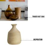 Trader Joe's Bag Challenge: West Elm Inspired Faux Clay Vase