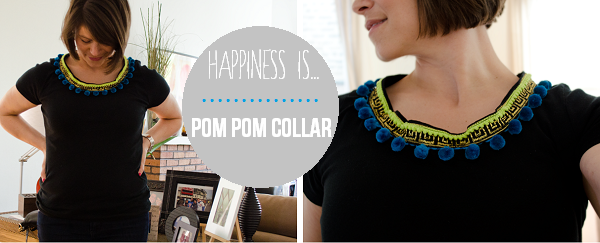 Pom Pom Collar //www.happinesiscreating.com