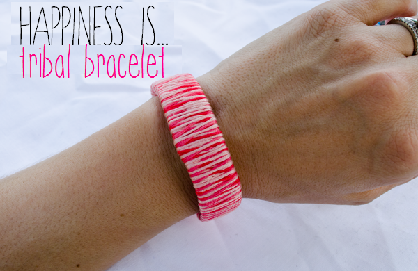 Tribal Bracelet //www.happinessiscreating.com