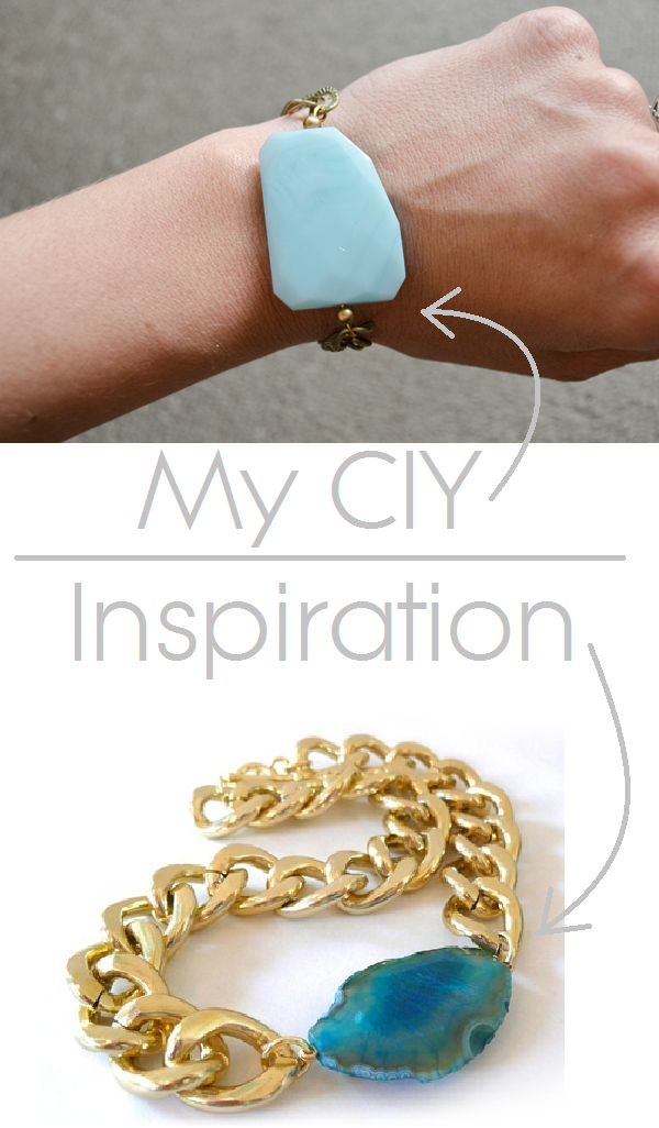 "CIY: Make your own ""gemstone"" bracelet :: www.happinessiscreating.com"