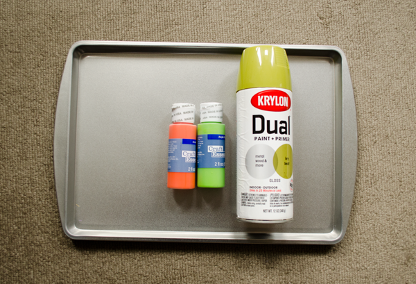 CIY: Make your own West Elm inspired tray with a dollar store cookie sheet! :: www.happinessiscreating.com