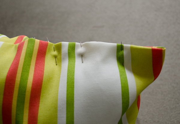 Stripe Pillow ;; www.happinesiscreating.com