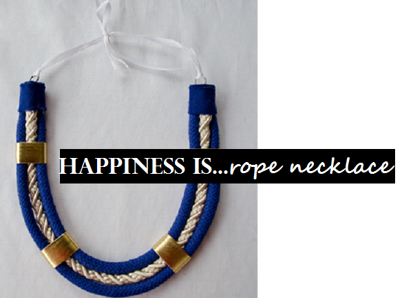 CIY: Rope Necklace // www.happinessiscreating.com
