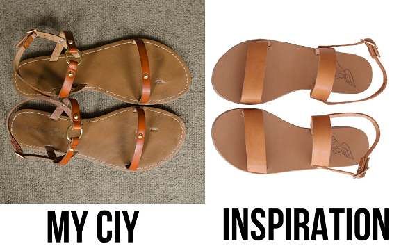 CIY:Make your own simple strap sandals! :: www.happinessiscreating.com