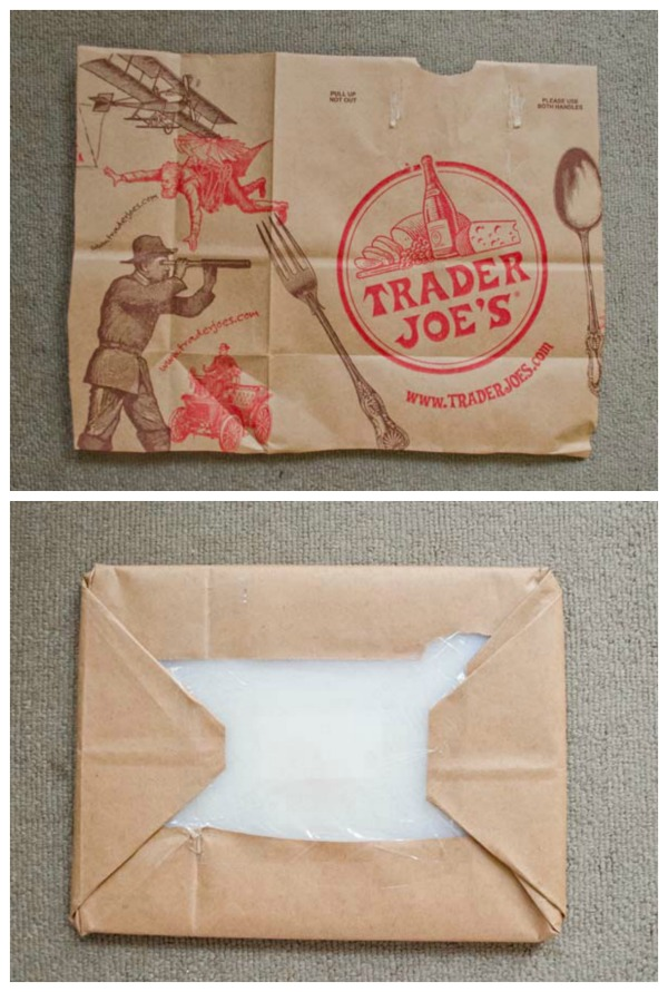 Turn a Trader Joe's Bag into a message board!  :: www.happinessiscreating.com