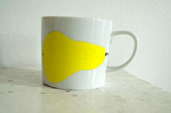 CIY Pear Painted Mug