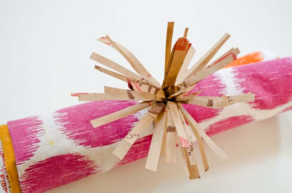 Make a napkin ring out of a Trader Joe's Bag! ::  www.happinessiscreating.com