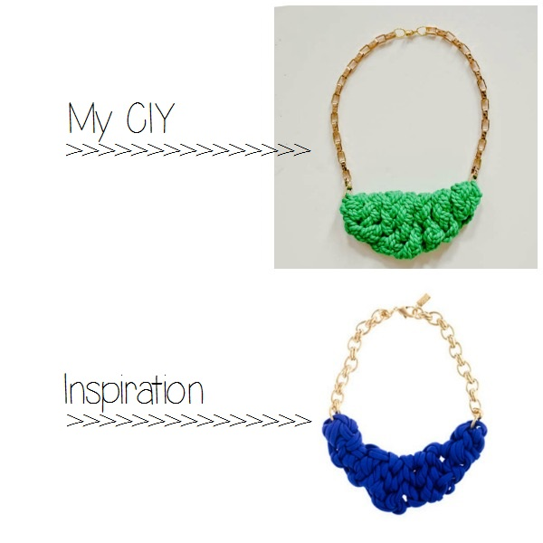 Make a JCrew inspired necklace! ::www.happinessiscreating.com