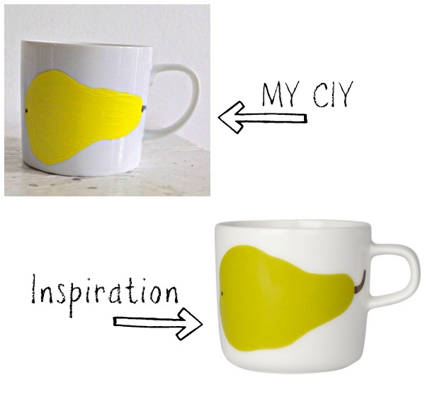 CIY Pear Painted Mug : www.happinessiscreating.com