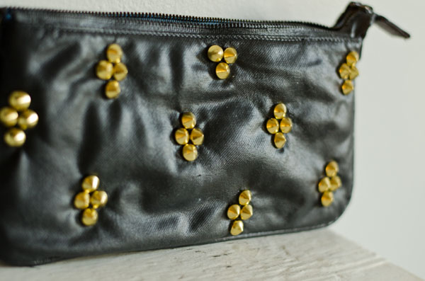 CIY: Black Studded Purse :: www.happinessiscreating.com