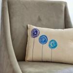 Modern Puffy Paint Pillow
