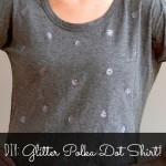 DIY Glitter and Polka Dot Shirt