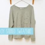 DIY Studded Sweatshirt