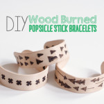 Wood Burned Bracelets