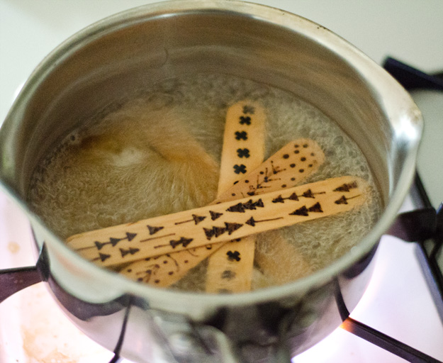 DIY Wood Burned Popsicle Stick Bracelets. ::: www.happinessiscreating.com