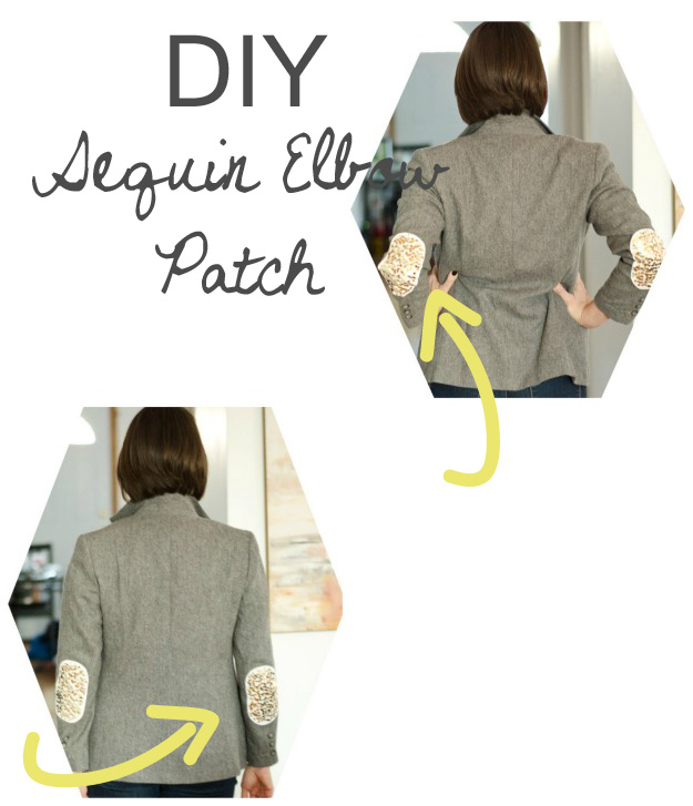 DIY Sequin Elbow Patches :: www.happinessiscreating.com