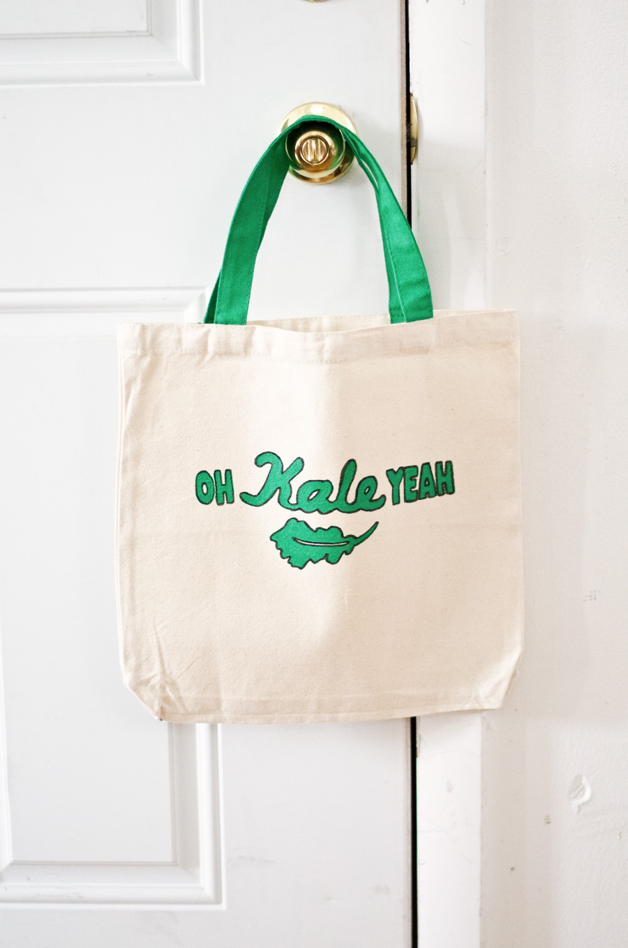 West Elm Inspired Kale Tote