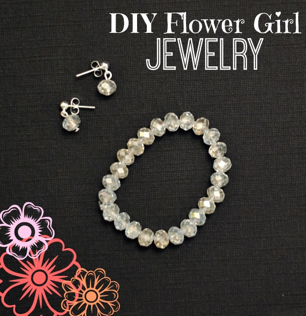 DIY Flower Girl Jewelry :: www.happinessiscreating.com