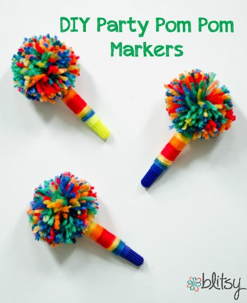 DIY Party Pom Pom Markers