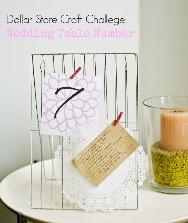 Dollar Store Challenge: Wedding Table Number Display