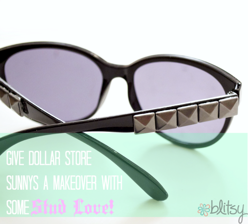 DIY Stud sunglasses : #happinessiscreating