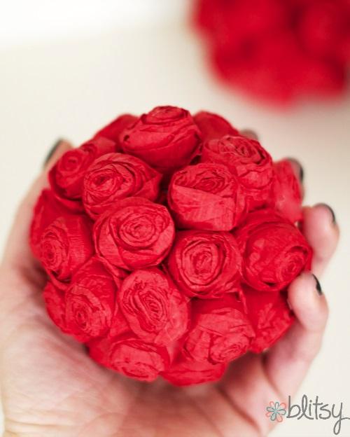 DIY Mini rose pomander