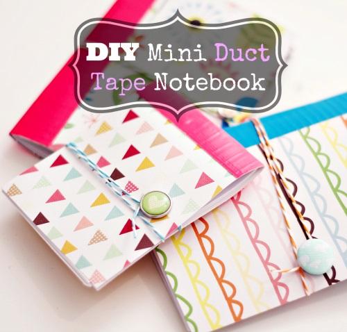 Blitsy Thursday's: DIY Duct Tape Notebooks