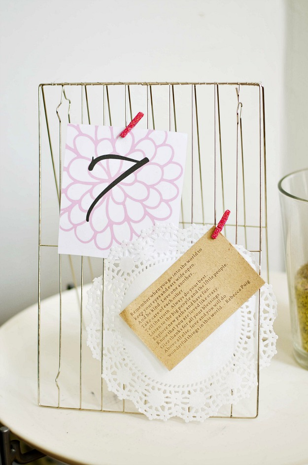 Dollar Store Craft Challenge: Wedding Table Number  ::  #happinessiscreating