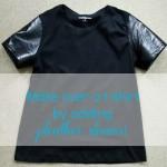 T-shirt Challenge - Pleather Sleeve Change-up