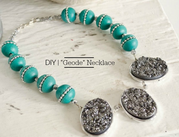 DIY Geode Necklace