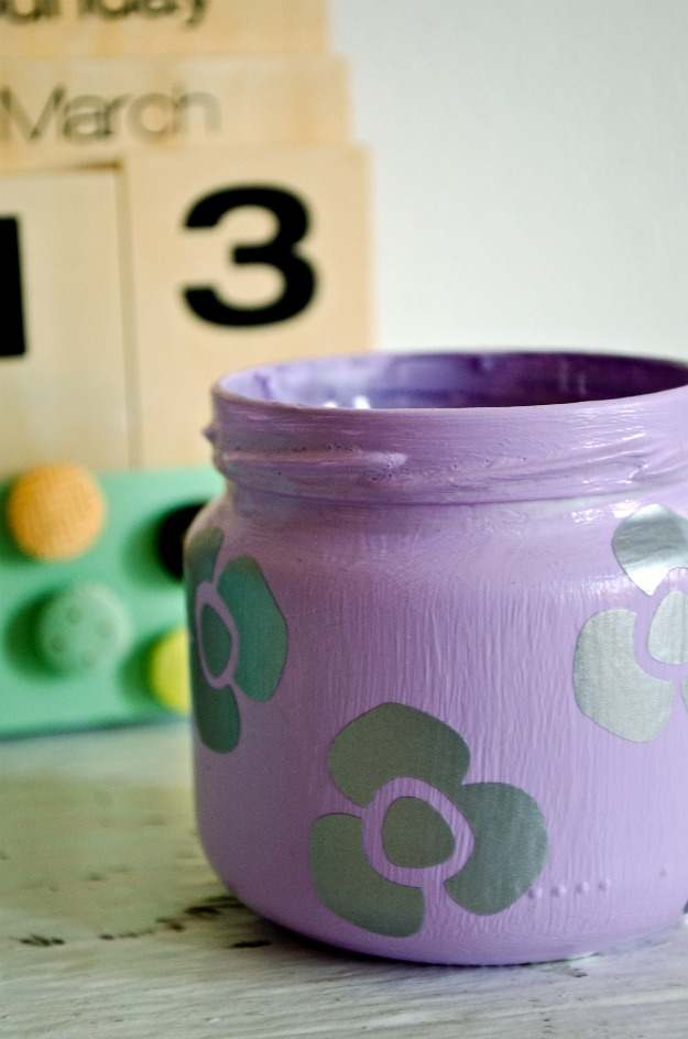 Spring jar makeover! #happinessiscreating