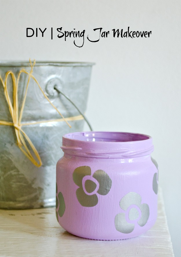 Spring jar makeover! 3happinessiscreating