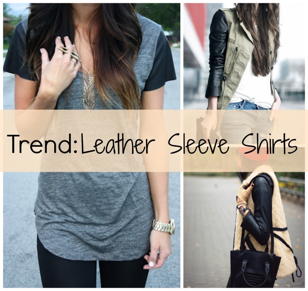 Trend: Leather Sleeve Shirts