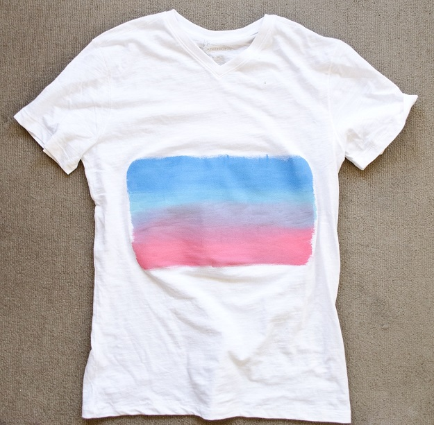 T-shirt challenge: painted sunset #happinessiscreating