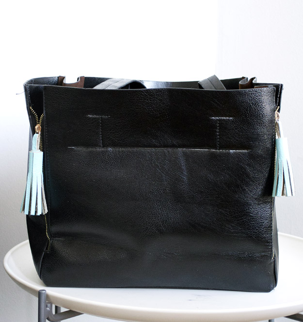 Painted Leather Tassels
