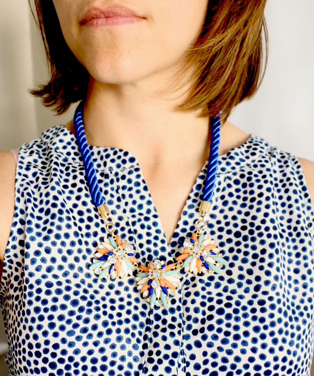 Happiness is creating: quick DIY statement necklace for beginners