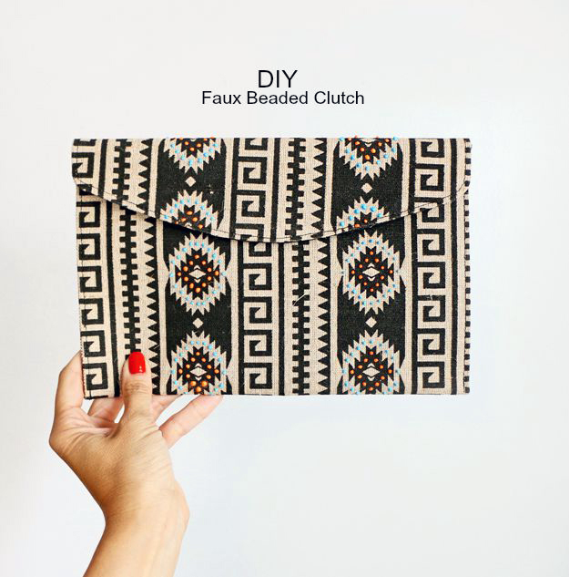 Happiness Is Creating - DIY Dimensional painted clutch