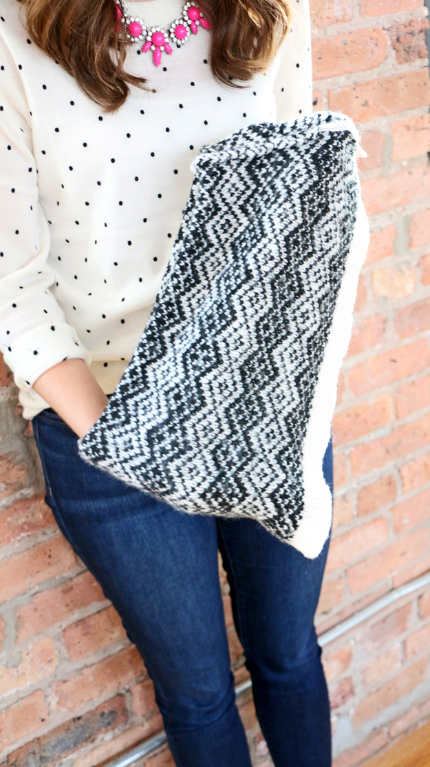 Turn an old sweater into an a no-knit infinity scarf