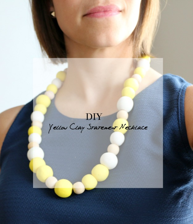 Create a statement necklace out of clay