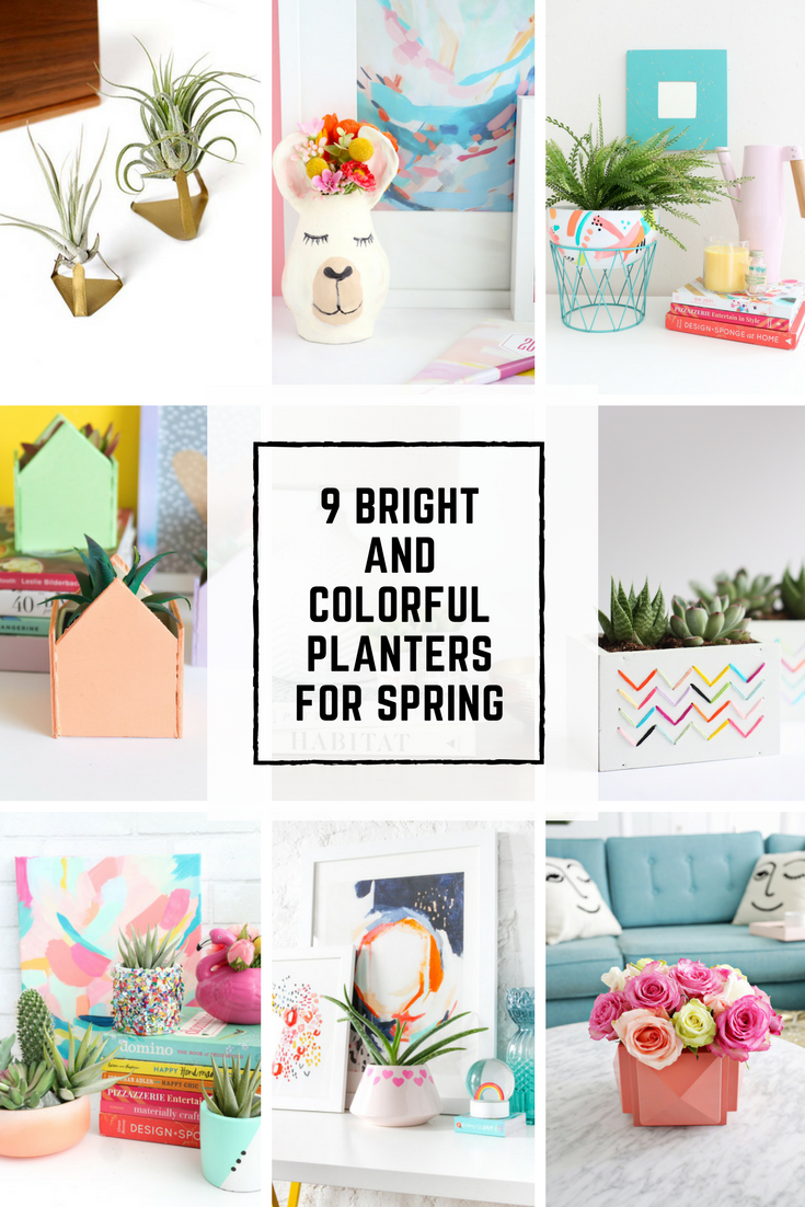 9 Bright and Colorful Planters for Spring