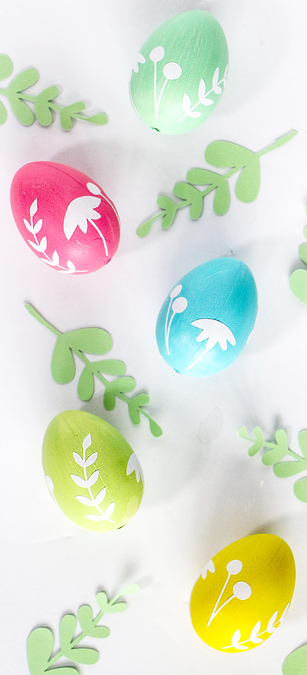 DIY Floral Easter Eggs