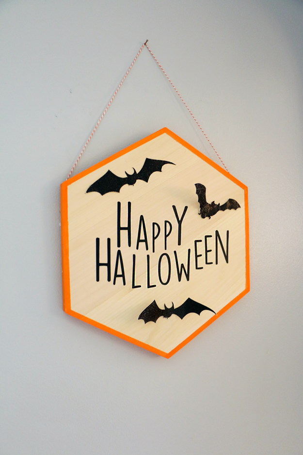 DIY Hexagon Halloween Sign