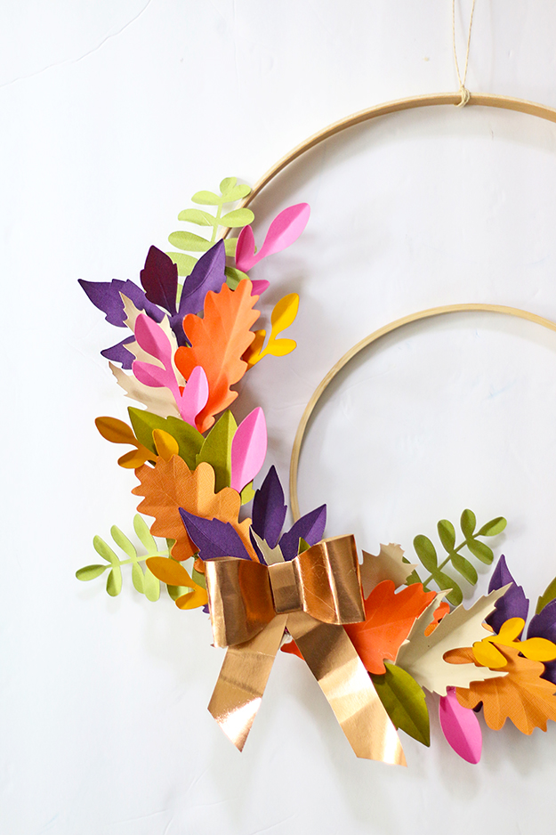 DIYPaperLeafFallWreath